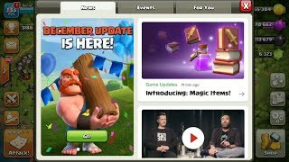 Clash of Clans New Updates are available in new winter season December 2017