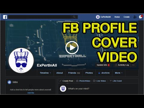 Tutorial How To Add Custom Facebook Cover Video On Your On Profile