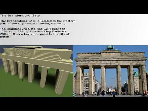 The Brandenburg Gate In Minecraft...