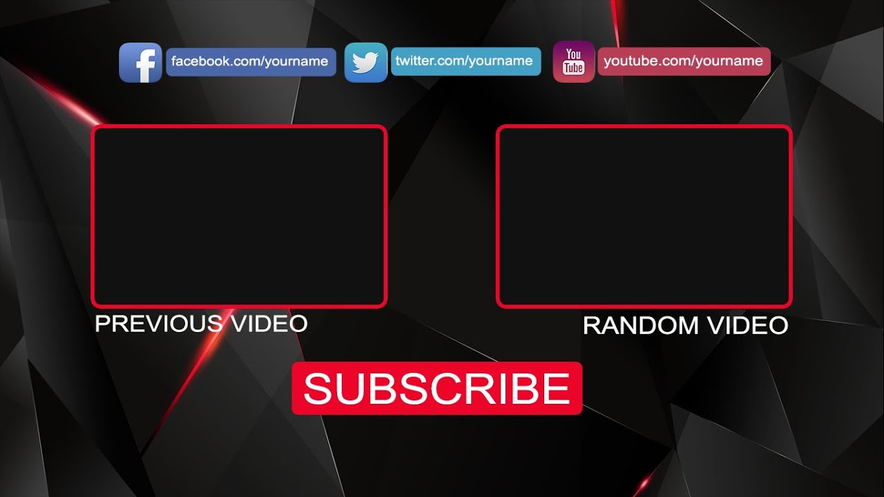 Free Youtube Outro TEMPLATE PSD by AGD - YouTube