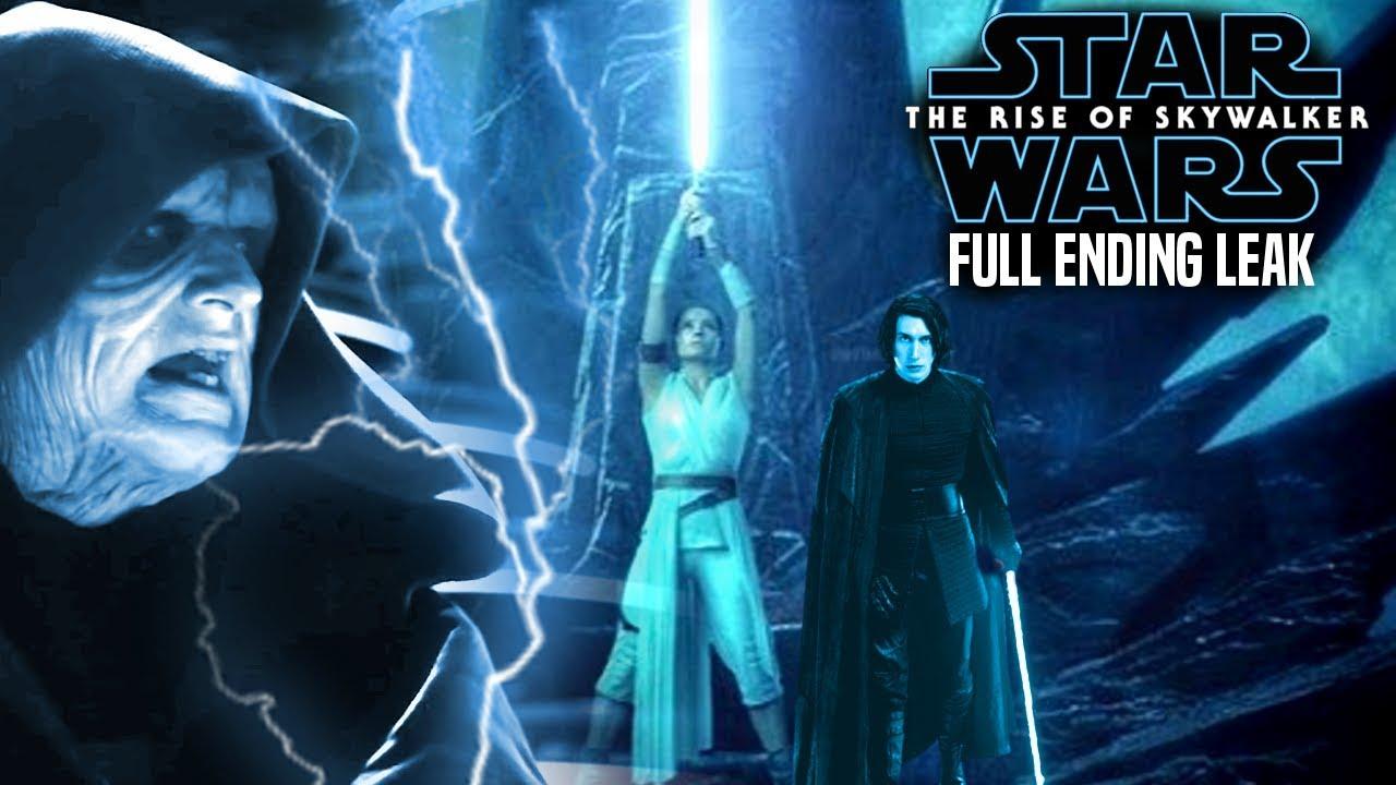 The Rise Of Skywalker Full Ending Scene Leaked Star Wars Episode 9 Youtube