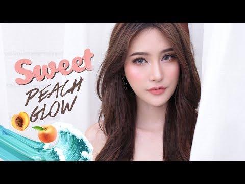 SWEET PEACH GLOW : แต่งหน้าโทนพีชชมพู เที่ยวทะเล ~