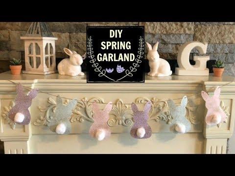 DIY EASTER GARLAND / BANNER   easy spring decor