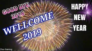GOOD BYE 2018 WELLCOME 2019 HAPPY NEW YEAR 2019