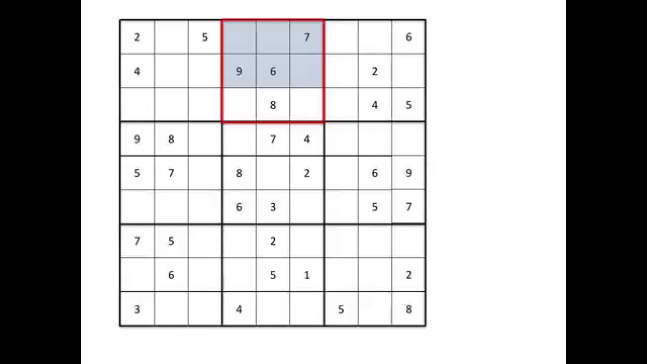 Sudoku Lesson 1 Introduction To Sudoku Puzzles Scanning And