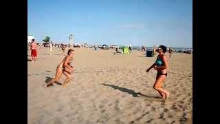 Slow motion beach volleyball - Port Stanley