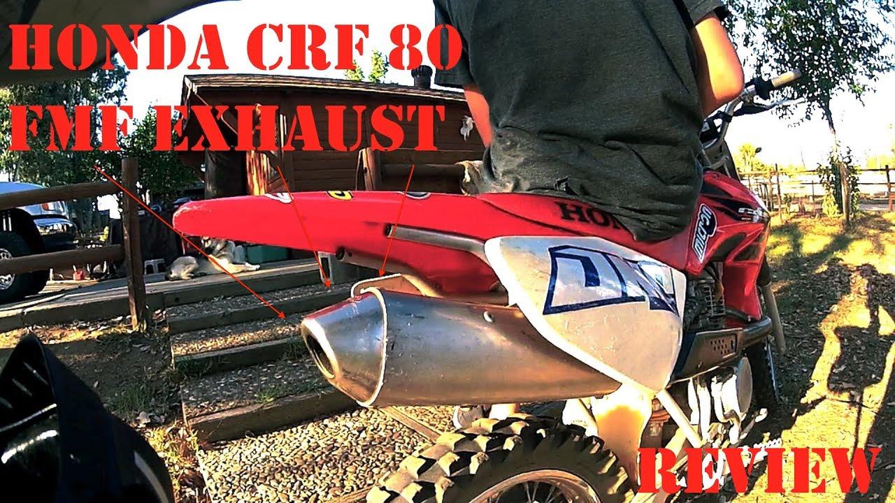 Honda Crf 80 >> Honda CRF 80 FMF Exhaust Review - YouTube