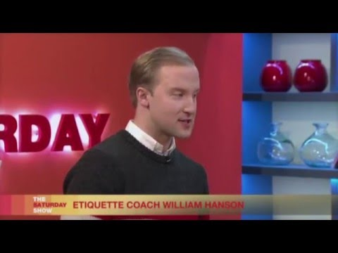 Restaurant dating etiquette - William Hanson on Channel 5s The Saturday Show