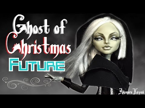 Ghost of Christmas yet to come/Future - A Christmas Carol inspired Doll Repaint Tutorial