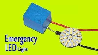 Automatic Emergency LED Light Circuit Using One Relay