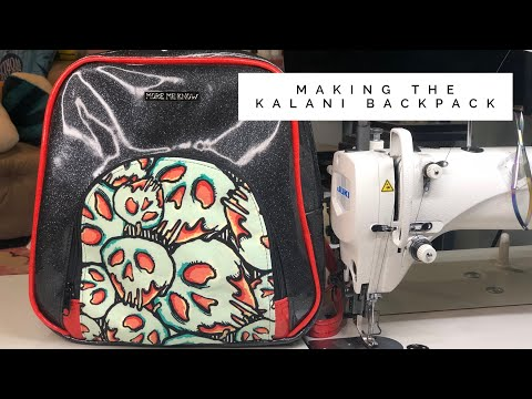 Making the Kalani Backpack by iThinkSew Patterns without Binding!