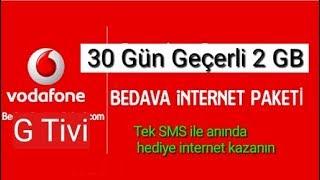 VODAFONE'DAN HEDİYE 2 GB İNTERNET! (Vodafone Bedava İnternet 2018)