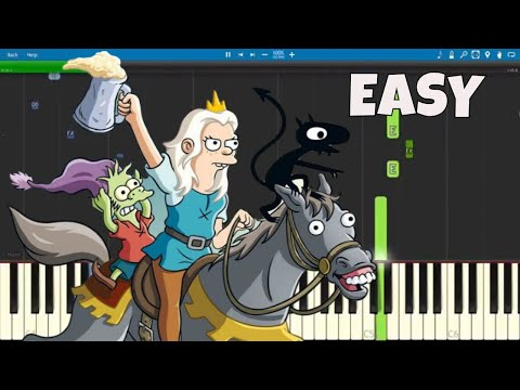 How to play the Disenchantment Theme Song  EASY Piano Tutorial