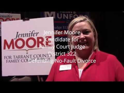 Jennifer Moore, Candidate for Family Court Judge, Defending No Fault Divorce
