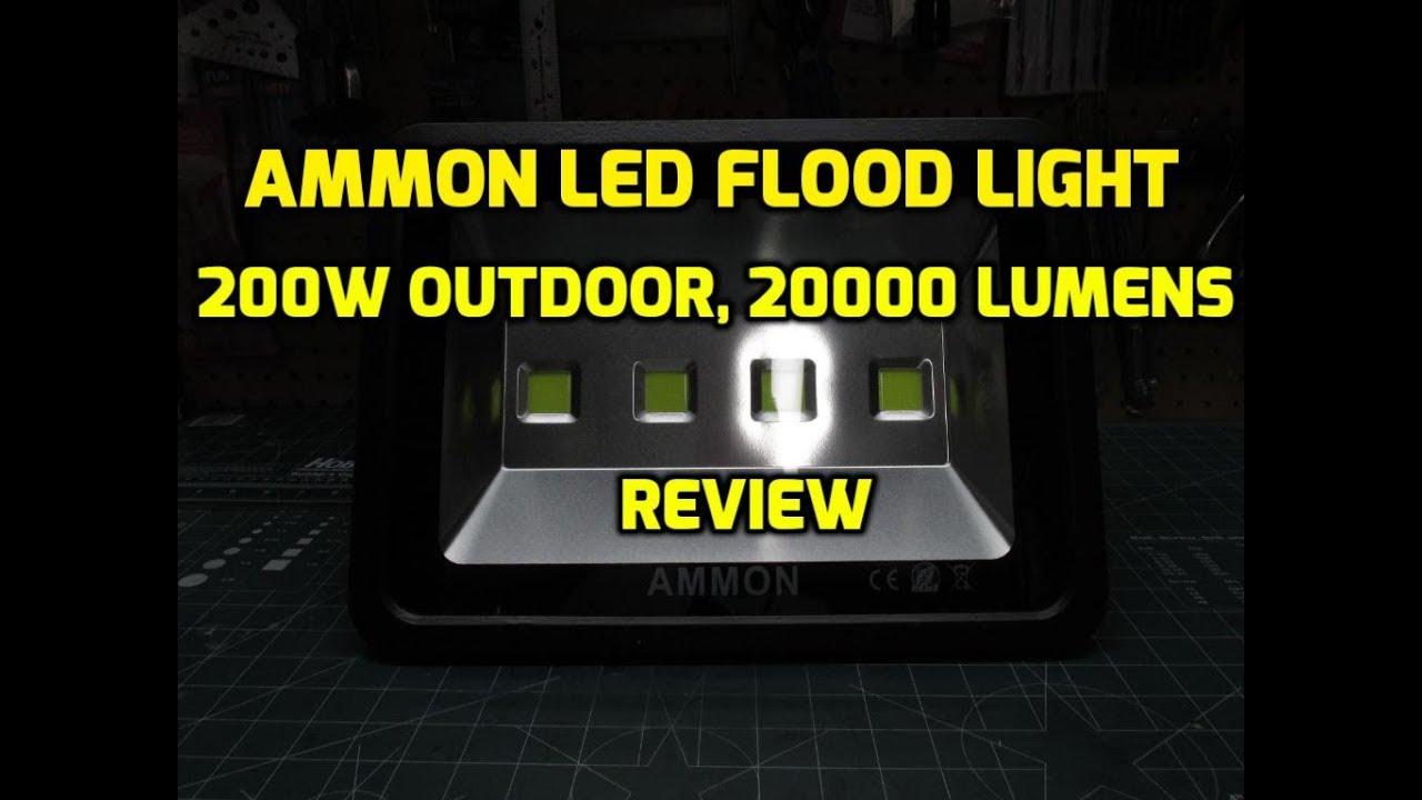 Ammon Led Flood Light 200w Outdoor Waterproof 20000 Lumen Review
