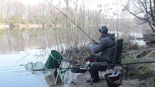 Ловля на Фідер 2019. Квітень. Рибалка. Річка. Брест.