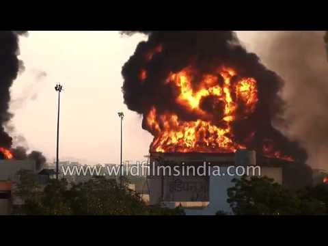 $100 million of India's fuel stocks burn up in massive explosion