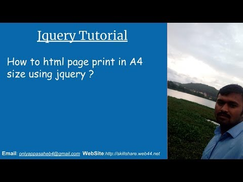How To Html Page Print In A4 Size Using Jquery ?