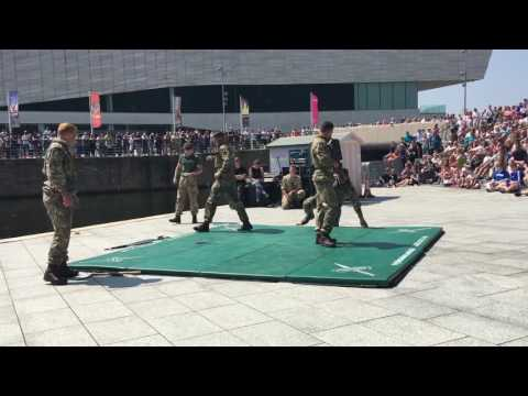 Royal Marines unarmed combat demo Liverpool