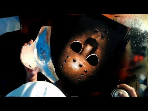 Spray Paint Art 6 - Jason Mask