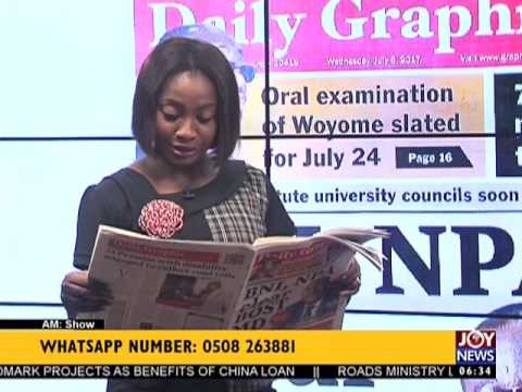 AM Show Newspaper Headlines on Joy News (5-7-17)