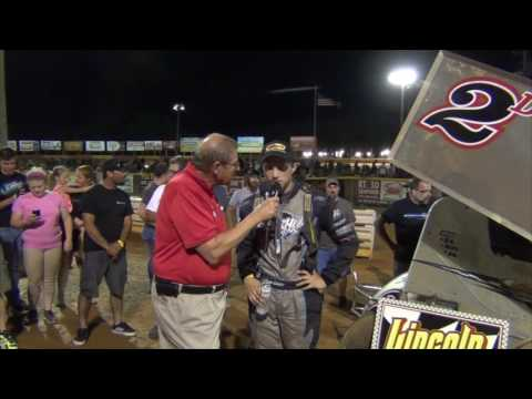 Lincoln Speedway 410 Sprint Car Victory Lane 07-16-16