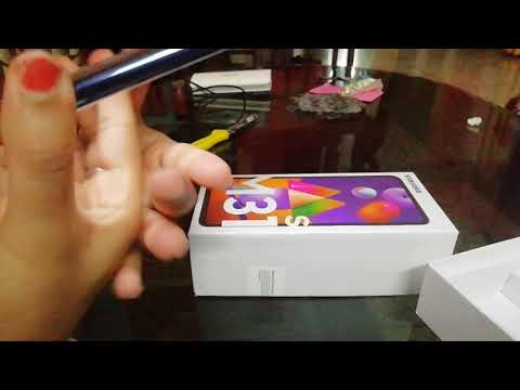 Samsung M31s unboxing video Mirage blue