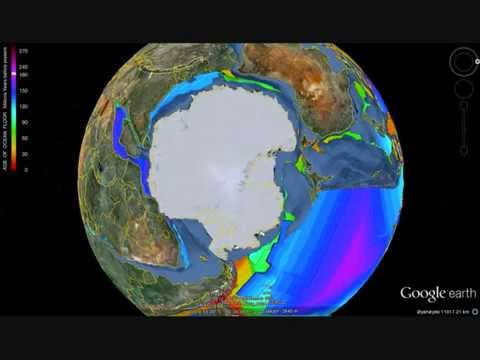 Circum Antarctic Plate Tectonics/Growing Earth Reconstructions. Test video.