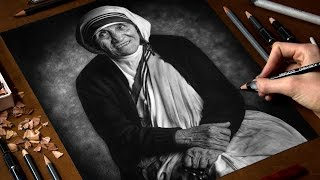 Drawing Saint Teresa of Calcutta