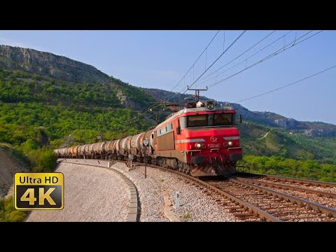 KOPERBAHN – 60 minutes 4K [Ultra HD] video of trains and scenery railway