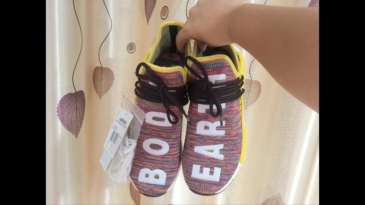 "b639afd878678 Adidas NMD Human Race Pharrell Williams "" Rainbow "" - YouTube"