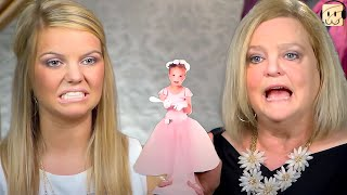 Crying Mom with Doll and DEMANDS Bride in PINK | Say Yes to the Dress TLC - React Couch