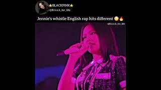 JENNIE WHISTLE ENGLISH RAP 🥳🥳🥳🥳#BLACKPINK #SHORTS #ONTHEGROUND #JISOO #LISA #JENNIE #ROSÉ #WHISTLE