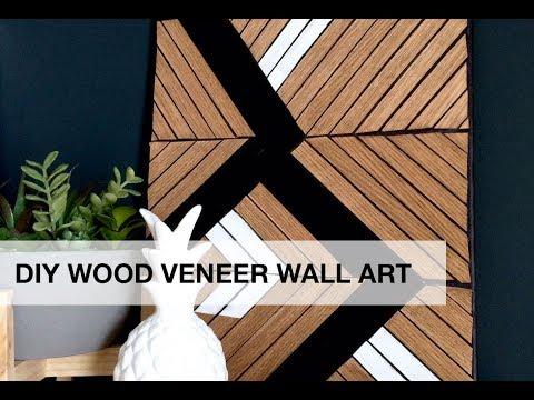 DIY Wood Veneer Wall Art