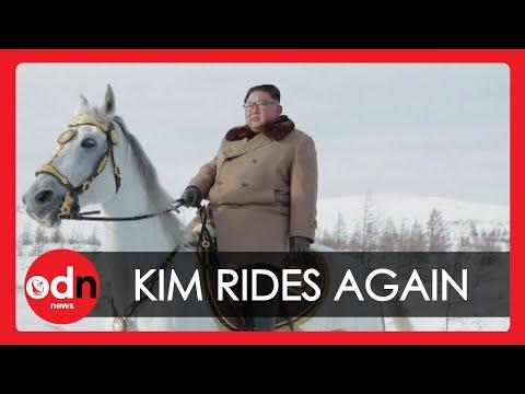 Kim Jong-un Rides White Horse Up Sacred Mountain Again