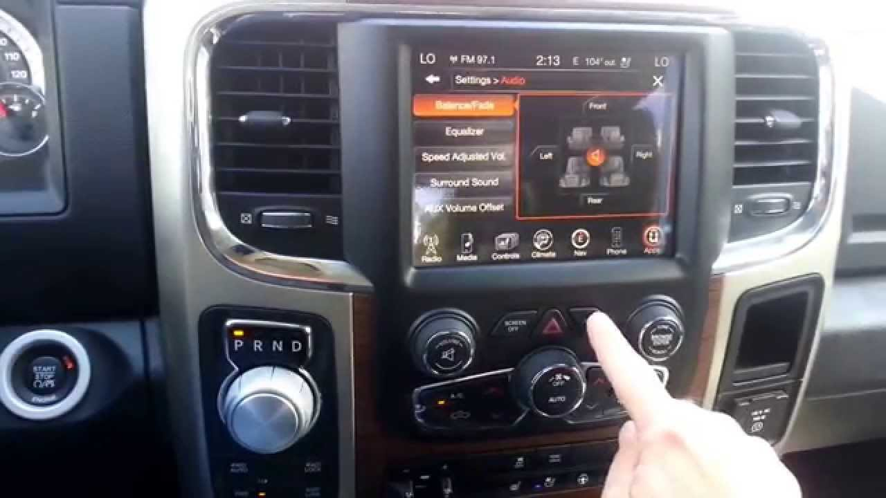 UConnect Back Button on Chrysler Dodge Jeep Ram - YouTube