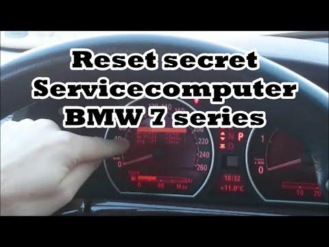 Secret service computer Reset BMW 7 series