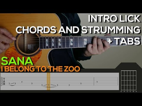 I Belong To The Zoo - Sana Guitar Tutorial [INTRO, CHORDS AND STRUMMING + TABS]