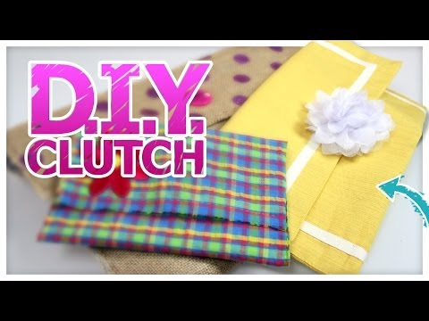 DIY Fabric Clutch (Works for Laptops & Smart Phones!)