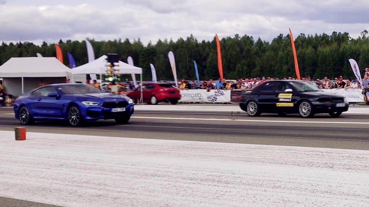 Audi A4 B5 Quattro 2.7BiT vs 2019 BMW 840d 3.0td xDrive 1/4 mile drag race