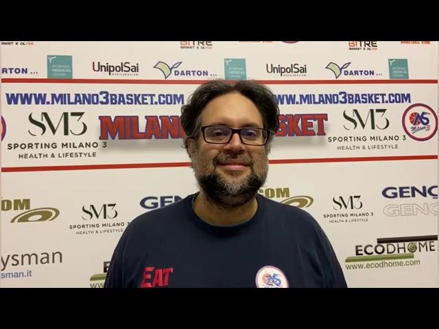 Coach Sandro Pugliese alla ripartenza