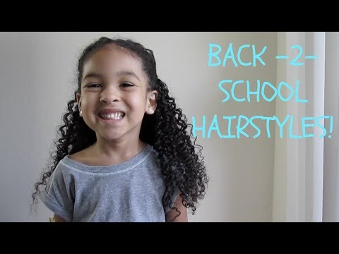 Quick Easy Hairstyles For Mixed Curly Hair Back To School