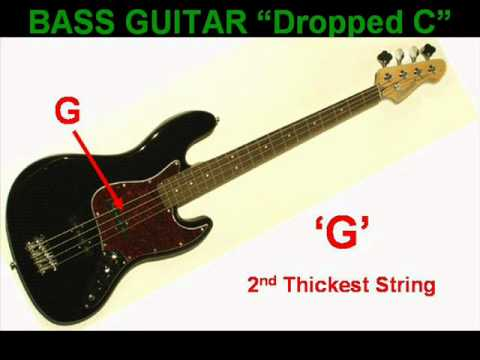 Video - dropped c bass guitar tuning