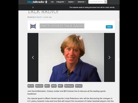 Interview w Miami Herald Reporter Linda Robertson
