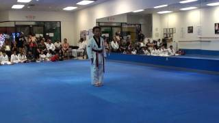 7 years old Hmong kid Taekwondo Black Belt Test 2