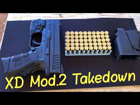 Springfield XD Mod 2 9mm Subcompact Takedown aka Field Striping for Cleaning