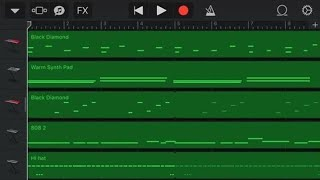 How to make a trap beat on garageband iOS (tutorial) #3