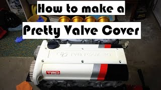 4AGE TRD Valve cover - How to make your own