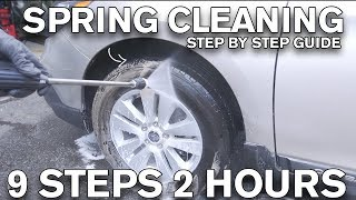 Quick 9 Step Spring Car Cleaning