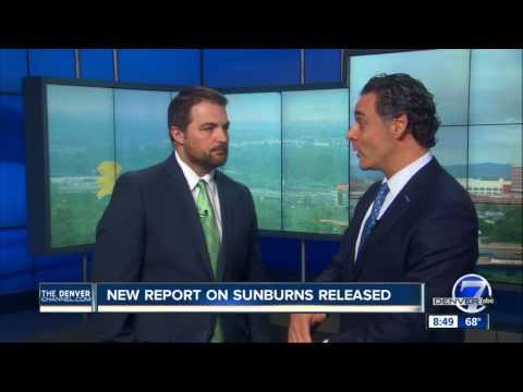Dr. Joel Cohen from Aboutskin Dermatology talk sunburns on Denver7